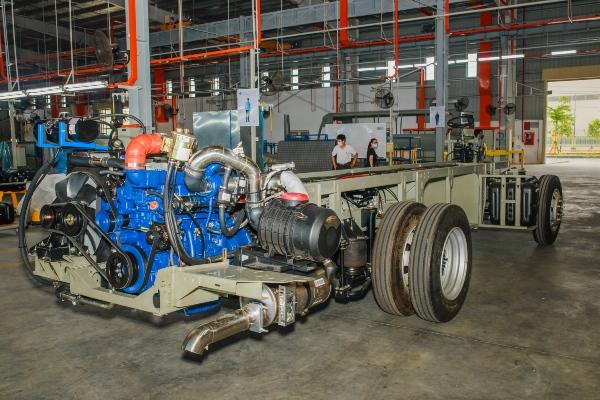 Mẫu chassis của xe King Long được thiết kế tại Công ty TNHH Ô tô TC Việt Nam